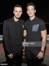 attends a cocktail hosted by Dior Homme's Kris Van Assche at Chateau Marmont on September 24, 2015 in Los Angeles, California.