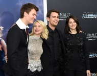 """NEW YORK, NY - MARCH 14: Ansel Elgort, Naomi Watts, Theo James and Shailene Woodley attend """"Allegiant"""" New York premiere at AMC Loews Lincoln Square 13 theater on March 14, 2016 in New York City. (Photo by Kevin Mazur/WireImage)"""