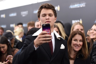 """NEW YORK, NEW YORK - MARCH 14: Actor Ansel Elgort attends the New York premiere of """"Allegiant"""" at the AMC Lincoln Square Theater on March 14, 2016 in New York City. (Photo by Nicholas Hunt/Getty Images)"""