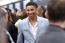 """NEW YORK, NEW YORK - MARCH 14: Actor Keiynan Lonsdale attends the New York premiere of """"Allegiant"""" at the AMC Lincoln Square Theater on March 14, 2016 in New York City. (Photo by Nicholas Hunt/Getty Images)"""